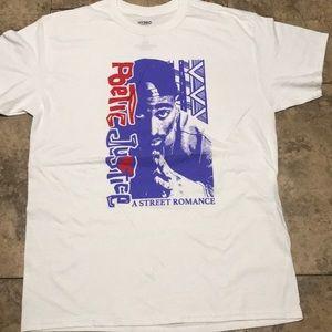 Poetic Justice Shirts - Poetic Justice Tee Shirt White Tupac Shakur